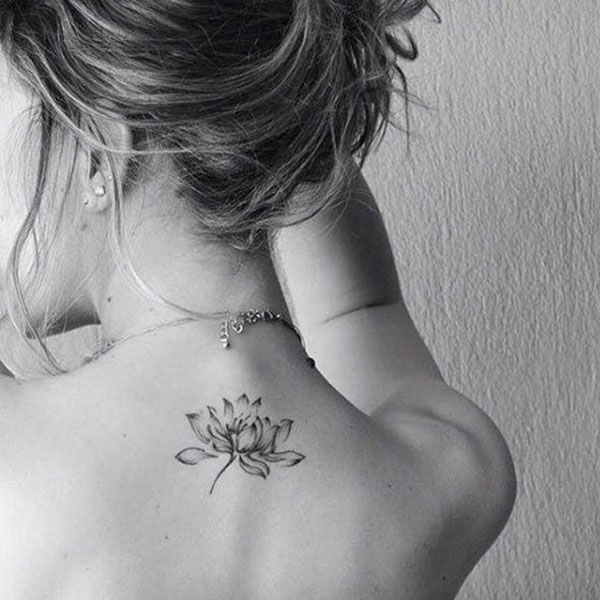 Simple Elegant Lotus Flower Tattoo