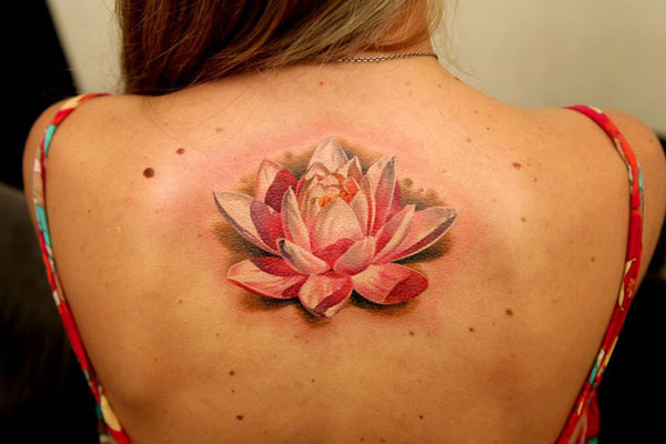 White Lotus Flower - Pink Lotus Flower Tattoo