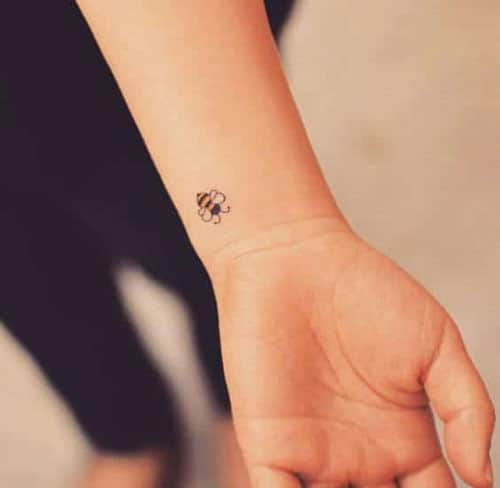 Small Tattoos on Wrist - Small Tattoo Ideas - Bumblebee Tattoo