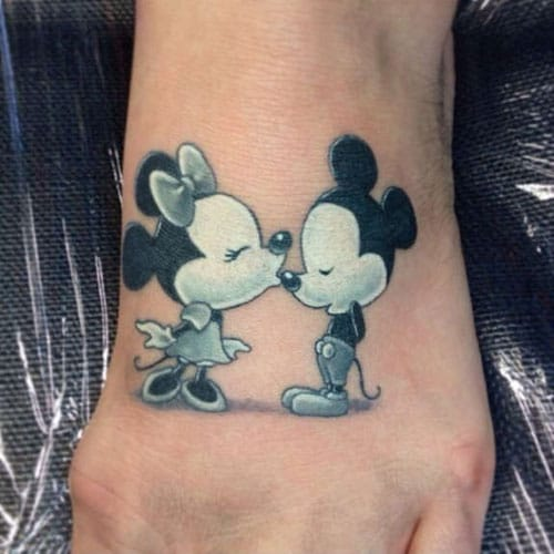 Adorable Mickey and Minnie Tattoo