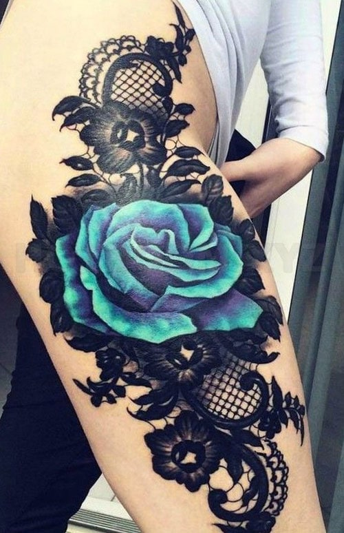 51 Sexy Thigh Tattoos For Women Cute Designs And Ideas 2018