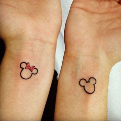 Mickey and Minnie Matching Disney Tattoo