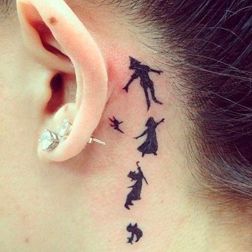 Perfect Subtle Peter Pan Tattoo