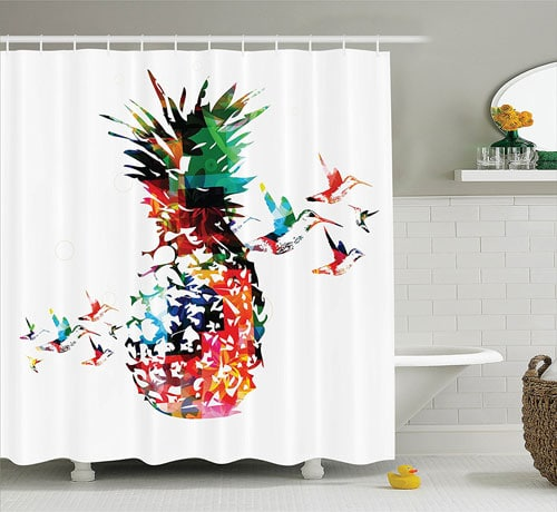 Pineapple Bathroom Decor - Pineapple Shower Curtain