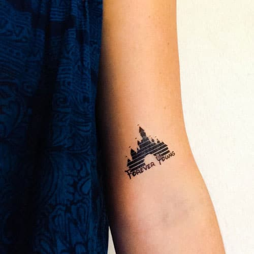 Simple Disney Castle Tattoo