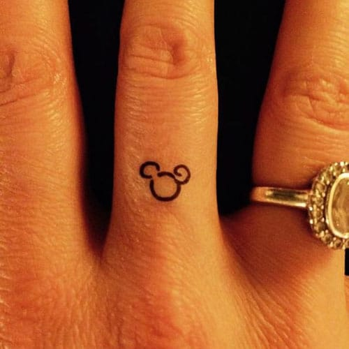 Small Mickey Mouse Tattoo