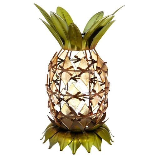 Solar Table Top Pineapple Lamp