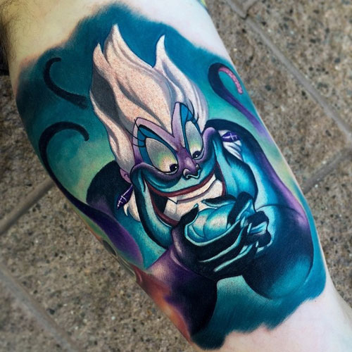 Ursula Disney Villain Tattoo
