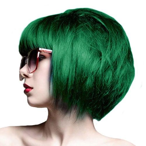 Vibrant Green Bob Hairstyle