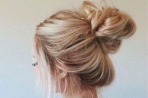 Messy Bun Long Hair