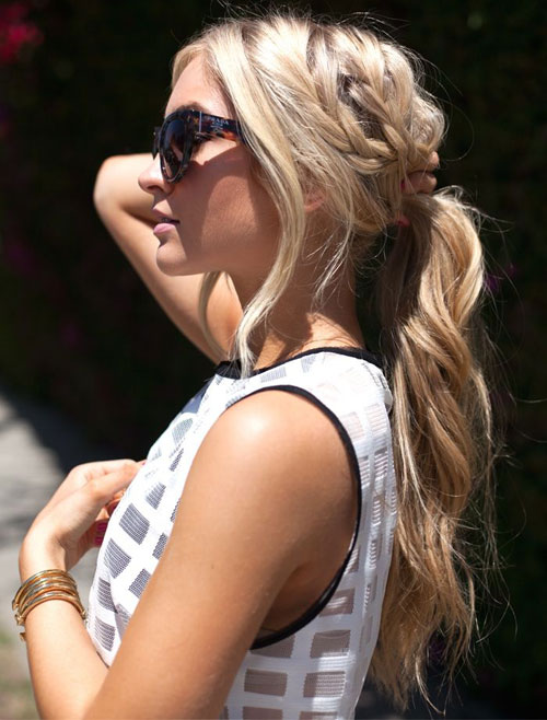 Beautiful Messy Ponytail Hairstyle