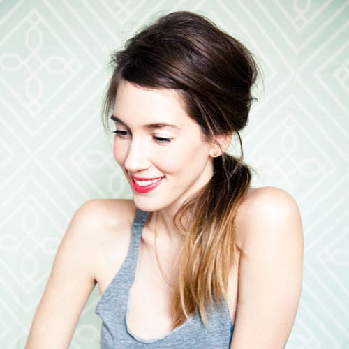 Cute Messy Ponytail Hairstyle