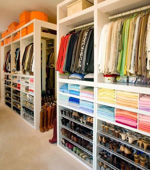 Dream Color Coded Closet