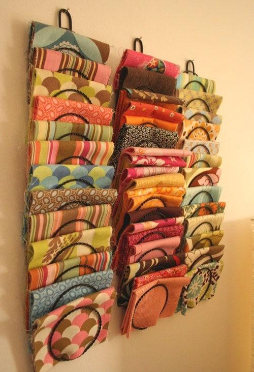 Folded Scarf Storage