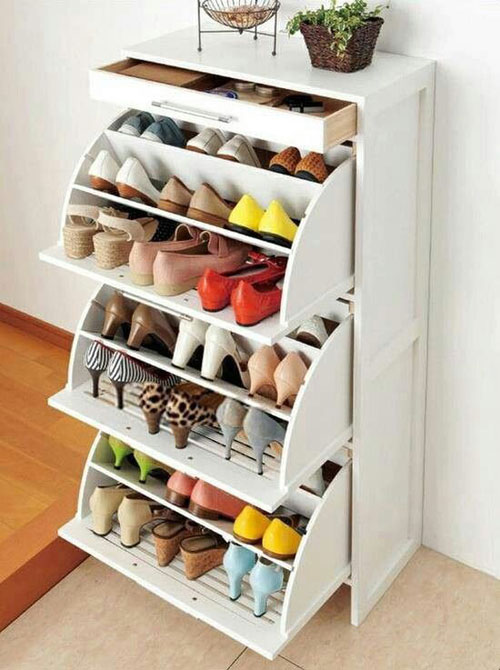 Hidden Shoe Storage Shelf