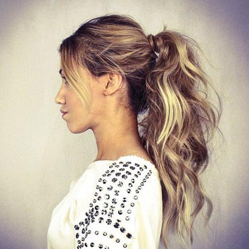 High Messy Ponytail Hair Wrap