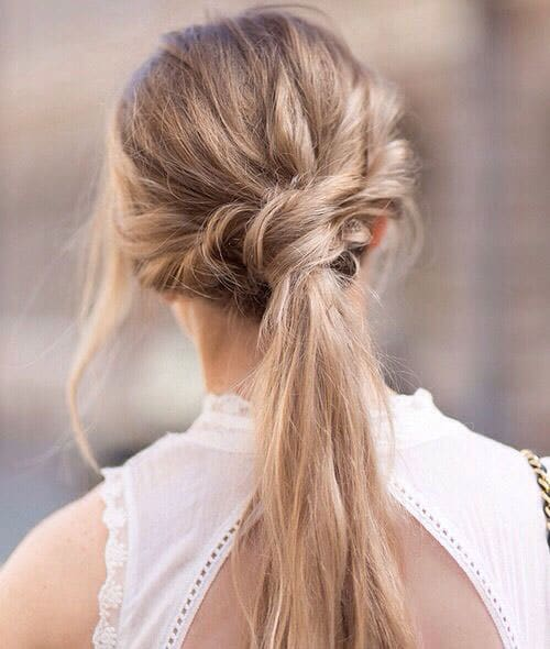 Knotted Messy Ponytail