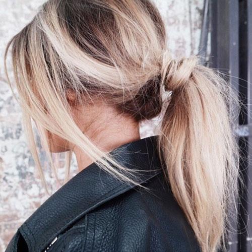 Medium Hair Messy Ponytail