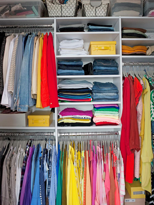 Organized Closet By Color