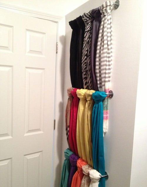 Scarf Closet Organization