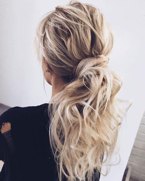 Wavy Messy Pony Hairstyle