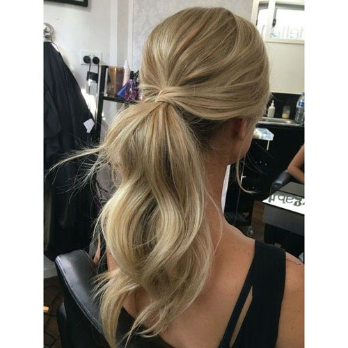 Wrapped Messy Ponytail