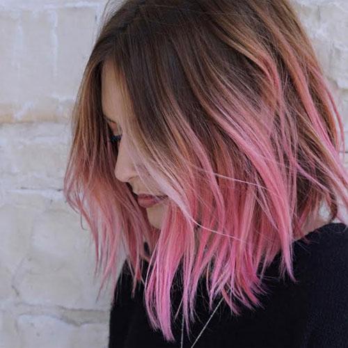 Short Pink Ombre Bob