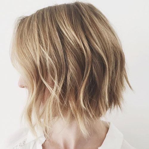 Textured Bob Hairstyle for Fine Hair