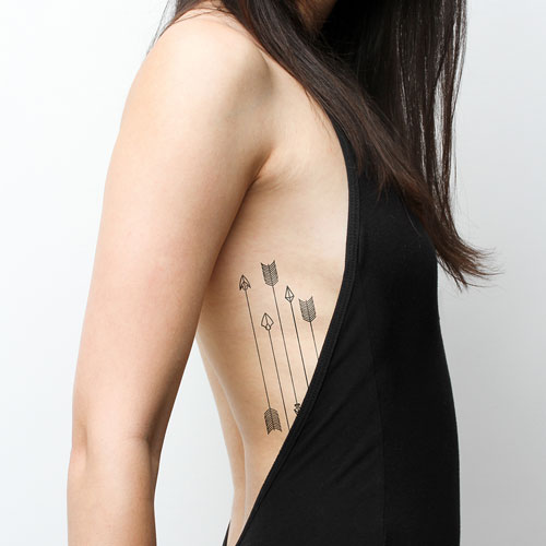 4 Arrow Tattoos - Rib Cage Tattoos - Arrow Tattoo Ideas for Women