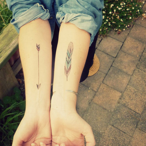 Arrow And Feather Tattoo - Arrow Forearm Tattoo