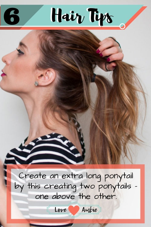 Best Hair Tips and Tricks - Create A Fake Extra Long Ponytail - Womens Hairstyle Trick