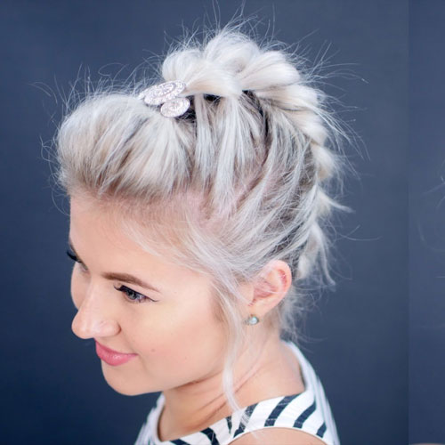 Braided Mohawk Updo - Bold Updos for Short Hair