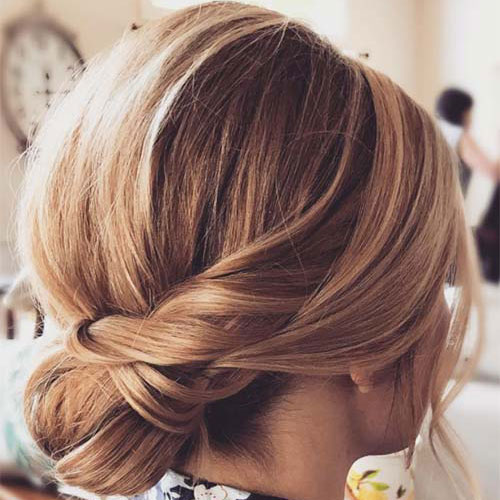 Chignon Updo for Short Hair