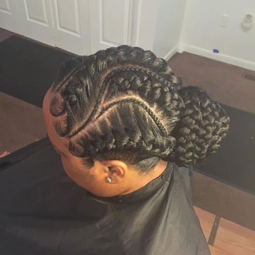 Curved Braided Hairstyle