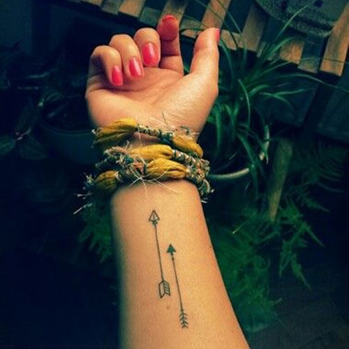 Double Arrow Tattoo - Arrow Tattoo Designs for Women