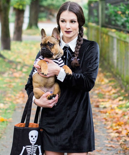 Easy Halloween Costume - Dog Halloween Costume - Addams Family Halloween Costume