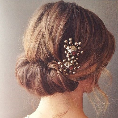 Elegant Rolled Updo - Updos for short hair wedding - Wedding updos