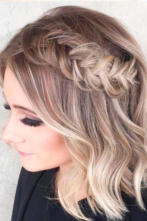Fishtail Side Braid With Short Hair