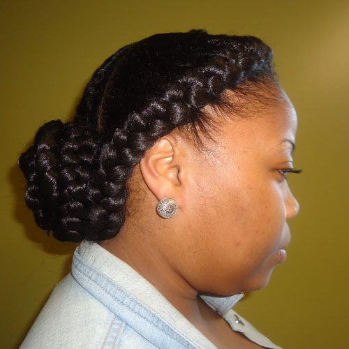 Goddess Braid Halo with Bun
