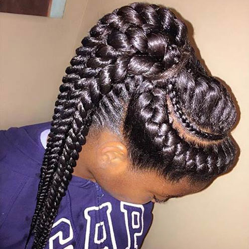 Goddess Braided Ponytail