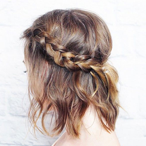 Half Updo Braided Crown