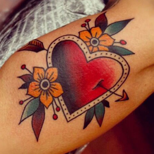 Heart Arrow Tattoo - Cupid Tattoo - Tattoo Ideas For Women