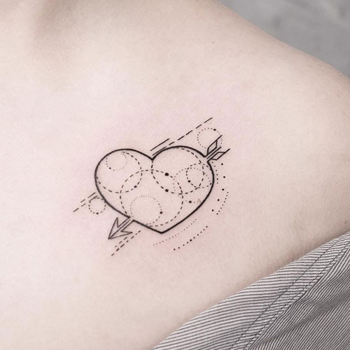 Heart Arrow Tattoo - Simple Arrow Tattoo