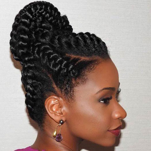 High Goddess Braids Bun