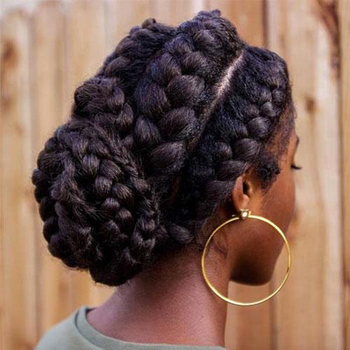 Low Bun Goddess Locs