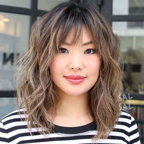 Medium Balayage Hairstyle - Medium Hairstyles with Balayage - Shag hairstyle
