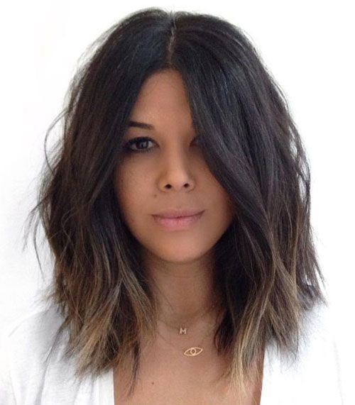 Medium Hairstyles for Women - Subtle Ombre Medium Hair - Ombre Lob