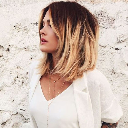 Medium Length Ombre Bob Hairstyle