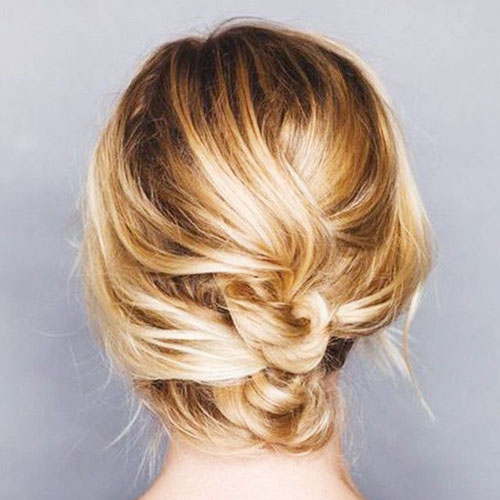 Messy Knot Updo for Short Hair - Easy updos for short hair