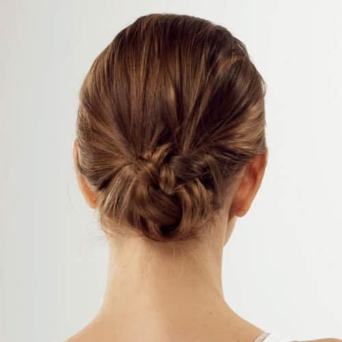 Nape Knot for Short Hair